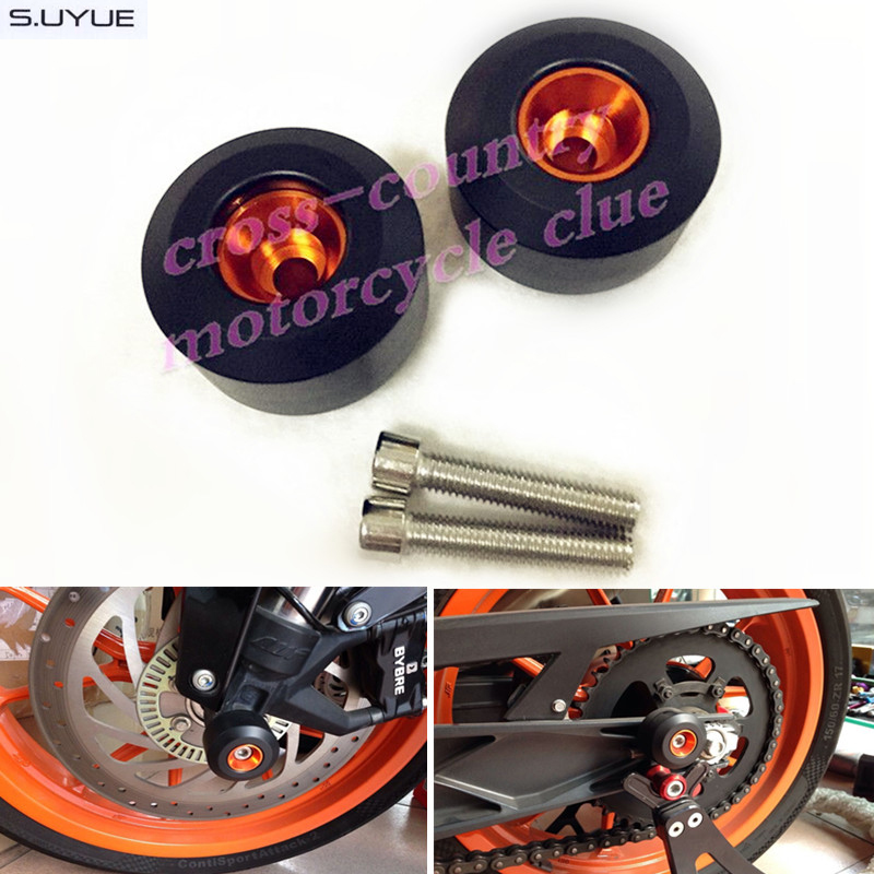 free shipping Rear Fork Wheel Frame Axle Slider Crash Protector For KTM 125 200 390 Duke