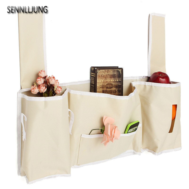 Household Hanging Sofa Bedside Bed Pocket Bed Organizer Hanging Bag Phone  Holder Storage Bag Deskside Hanging