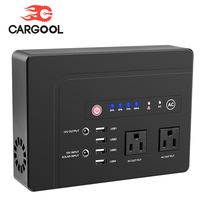 CARGOOL Car Jump Starter Power Bank Power Supply Rechargeable Battery Pack 2 AC Outlets for Laptops Tablets Phones 42000mAh 200W