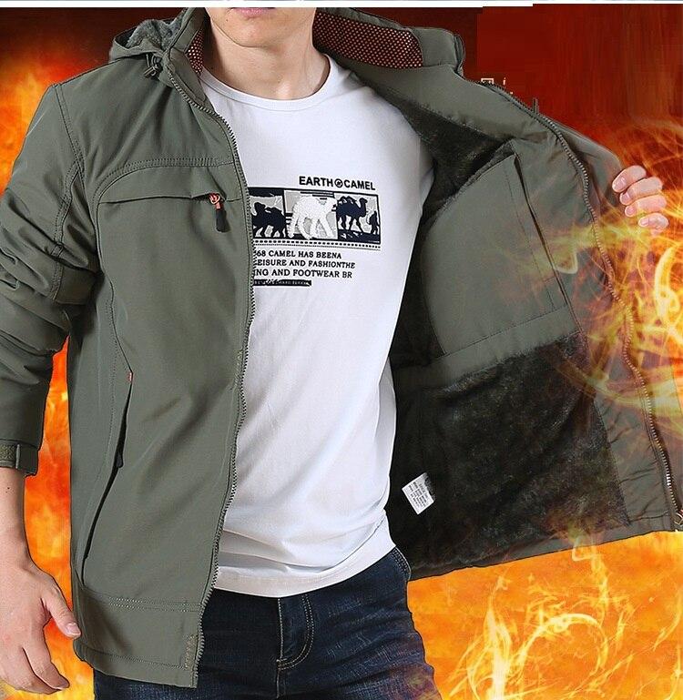 2018 hiver vent preuve imperméable à l'eau chaud polaire hommes veste manteau manches longues à capuche tenue veste décontractée Pizex zipper pardessus-in Vestes from Vêtements homme    1