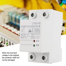 230V Automatic Reconnect Over Voltage And Under Voltage Protection Relay 2P40A Adjustable