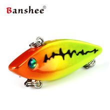 Banshee 40mm 4.8g Pike/Bass Artificial Hard Bait Vib Sinking Wobbler Pike Mini Crankbaits Fishing Lures Ratting Lipless Baits(China)