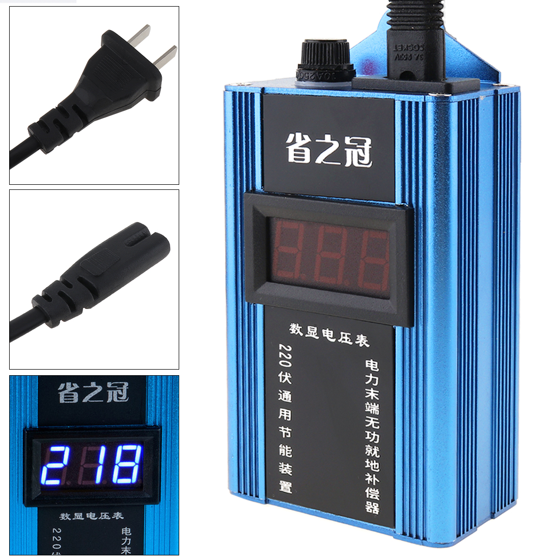 25KW/80KW/100KW économiseur d'énergie intelligent économiseur d'énergie ménage compteur d'économie d'électricité boîte écran affichage ue/royaume-uni prise pour famille/usine