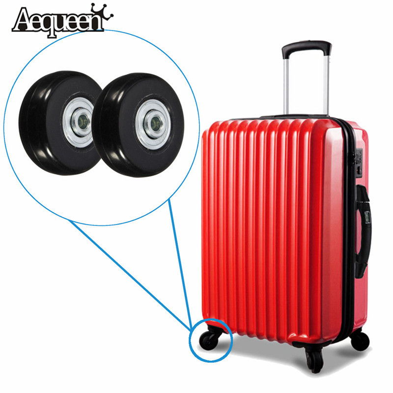 AEQUEEN 1 Pair 45x18mm Travel Luggage Wheel With Screw Luggage Wheel Suitcase Replacement Wheels Axles Repair Rubber Bag Parts