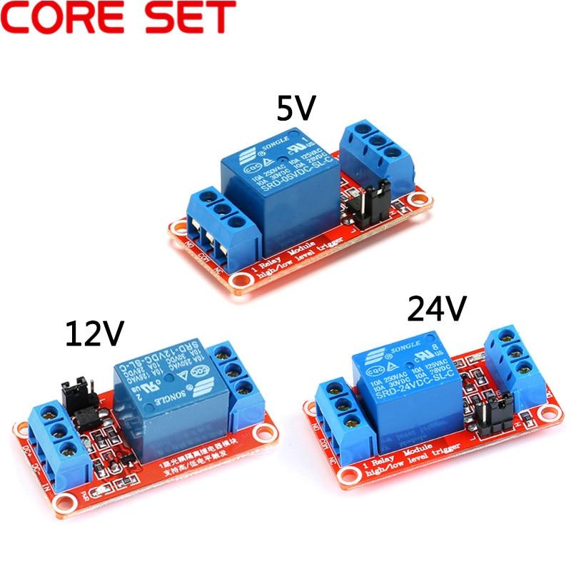 Placa de rel/é con m/ódulo de rel/é de 8 canales con placa de expansi/ón de gatillo de bajo nivel para Arduino 5 V//12 V//24 V 5 V
