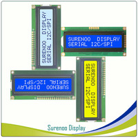 Serial SPI I2C 1602 162 16*2 Character LCD Module Display Screen LCM with LED Backlight Build-in AIP31068L Controller