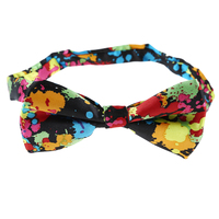 FS Hot NEW Color Printing Sprayed Picture Bow Tie For Men