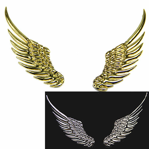On Sale 3D Alloy Metal Angel Hawk Wings Emblem Badge Decal Car Logo Sticker 2Colors ...