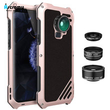 Ascromy For Galaxy S9 Lens Kit Case 3in1 198 Fisheye 15X Macro Wide Angle Lens for Samsung S9 Plus S9plus Fish eye Camera lente