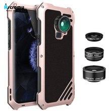 Ascromy Galaxy S9 Lens kiti kılıf 3in1 198 balıkgözü 15X makro geniş açı Lens için Samsung S9 artı S9plus balık gözü kamera lente