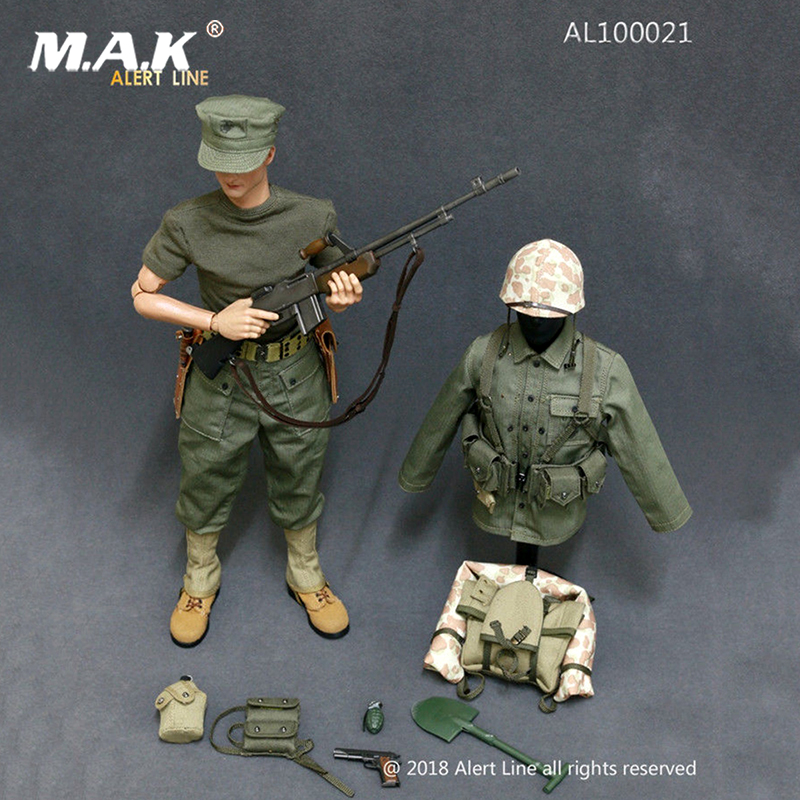 1:6 Military Soldiers 1/6 Scale WWII US Marine Corps Browning Automatic Rifle (BAR) Gunner Set Fit 12