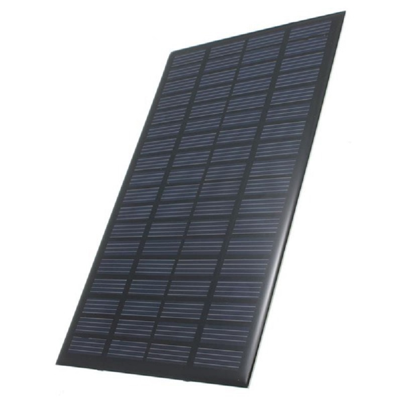 Solar Panel 18V 2.5W Polycrystalline Stored Energy Power Solar Panel Module System Solar Cells Charger black