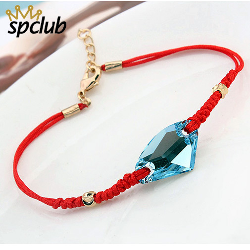 SPCLUB Original Crystals from Swarovski Lucky Red String Thread Rope  Bracelet Charm Bracelets For Women Handmade Jewelry Lovers 352a0a7ca
