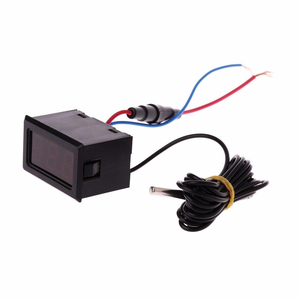 Digital LCD Display Thermometer 110V 220V 100-230V Temperature Sensor w 2m Probe