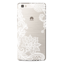 Sexy Retro Floral Phone Case For Huawei P8 P9 P10 Lite 2017 mini mate 10 Y6 Lace Flower Silicone Soft Cases Back Cover