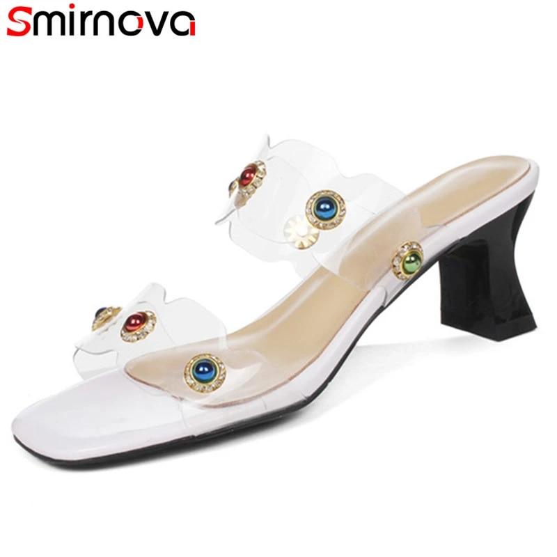 Smirnova Moda 2018 Sandalias De Verano Para Mujer Zapatos De Tacón Alto Para Ocio Zapatos De Mujer De Cuero Genuino Estilo étnico Zapatos Dulces Sandalias De Mujer Aliexpress