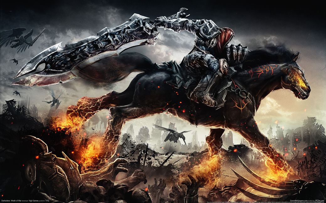 Darksiders Wrath of War Game Fabric poster 21 x 13 Decor 05 ...