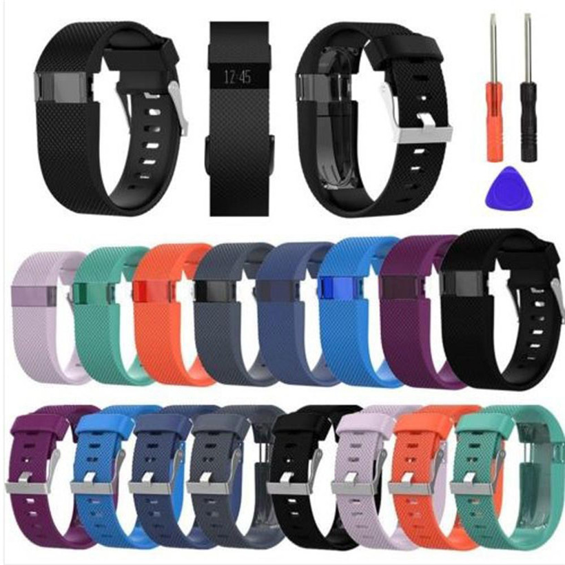 CARPRIE Replacement Wrist Band Silicon Strap Clasp+Protector Film For <font><b>Fitbit</b></font> <font><b>Charge</b></font> <font><b>HR</b></font> 180224 drop shipping free shipping