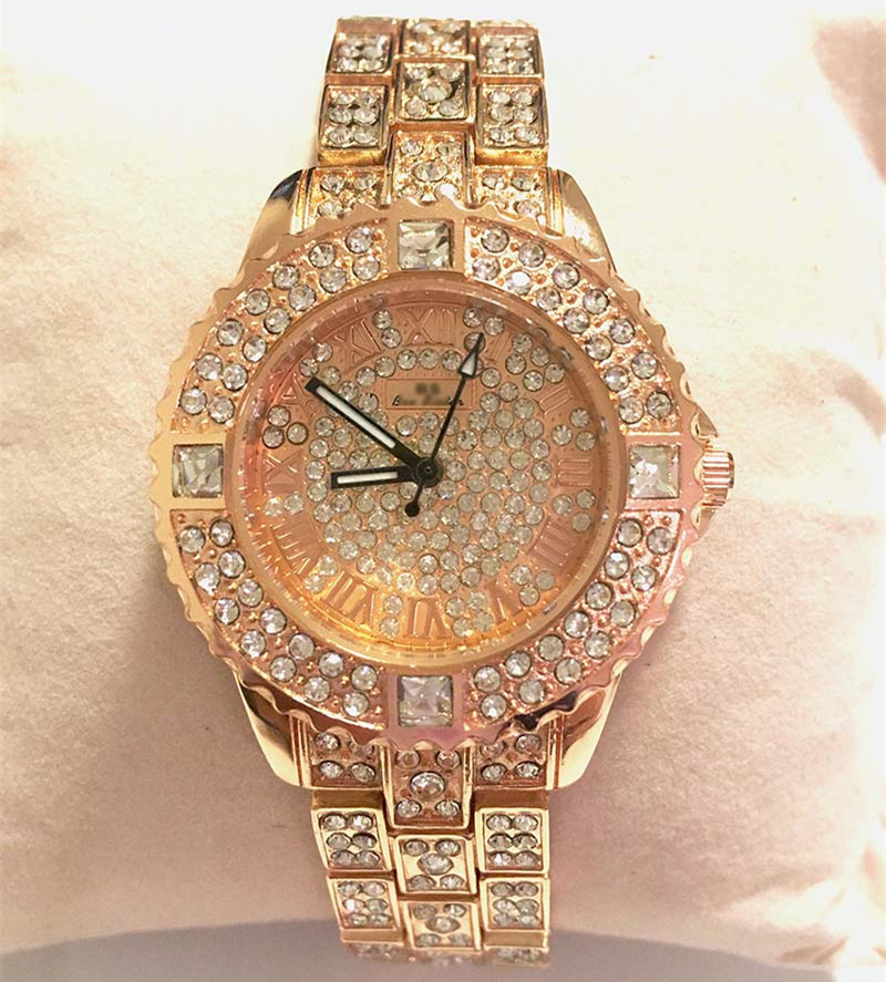 out white diamond ebay simulated men techno rapper hop itm gold pave iced hip bling watch s