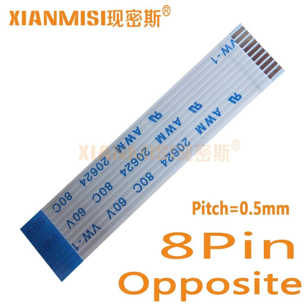Sourcingmap/® 10pcs 0,5 mm de Paso de 8 Pines AWM 20624 80C 60V VW-1 Cable Plano Flexible 200mm
