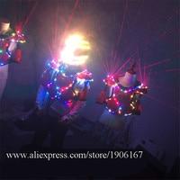 Led Armor Light Up Robot Suit With Led Luminous Colorful Helmet Nightclub Led Illuminate Laser Man Robot Dance Suits