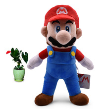 2018 New Arrival Anime Super Mario Bros Standing Mario Peluche Doll Plush Soft Stuffed Baby Toy Great Christmas Gift For Kids