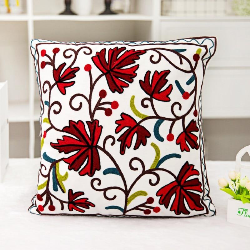 15 Pattem Klasik Dekoratif Bantal Meliputi Bordir 45 * 45 cm Katun - Tekstil rumah - Foto 1