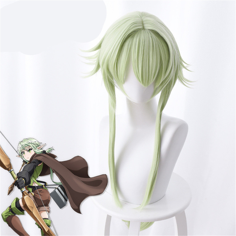 Goblin Slayer Yousei Yunde Cosplay Wig 80cm Green Heat Resistant Synthetic Hair Perucas Cosplay Wigs
