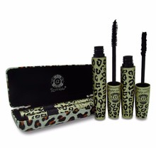 1 set = 2 pcs High Quality Love Alpha 3d FIBER LASHES Mascara Rimel Makeup set maquiagem Wild Leopard waterproof double Mascara
