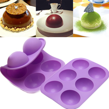 Small Hemisphere Shape Silicone Mold For Baking Mousse Cake Form Molds Soap Making Pudding Jelly