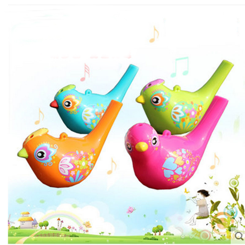 Toys 529 painted waterbird music whistle wind instrument Traditional ideas bathroom water toy gift for baby
