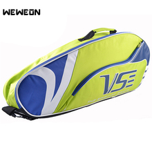 цена на 4-5Pcs Unisex Racquet Sports Bag Tennis Racket Bag Badminton Backpack Single Shoulder Srotage for Racket Athlete Accessories