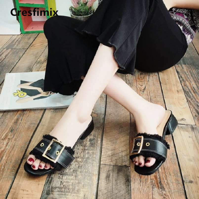 Cresfimix sandalias de mujer women fashion new comfortable black sandals lady cute & cool spring & summer slip on sandals a511 cresfimix sandalias de mujer women fashion black beach flat sandals lady cute solid comfortable plus size sandals with crystal