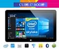 Original cube i7 libro de windows 10 tablet pc 10.6 ''ips 1920x1080 intel core m3-6y30 (skylake) Dual Core 4 GB/64 GB Cámara de Tipo C