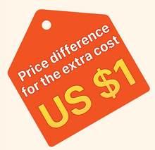 Para compensar a diferença de preço ou custo extra