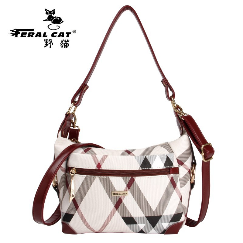 FERAL CAT PVC Bag Women Small Shoulder Bags Ladies Hobo Designer Brand Soft Leather Handbags Satchel Girls Crossbody Bag Cluth feral cat women shoulder messenger bags 2017 pvc plaid ladies plaid clutch handbags vintage crossbody envelope bag female bolso