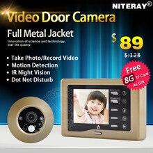 """3.0 """"pulgadas cámara de la puerta mirilla vídeo timbre de la puerta soporte motion detectar y de disparo de forma automática"""
