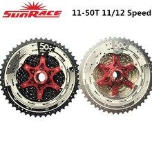 Sunrace 11 velocidade csmx80 12 velocidade csmz90 bicicleta cassete 11 50t se encaixa shimano sram volante 11 50, alongado gancho traseiro