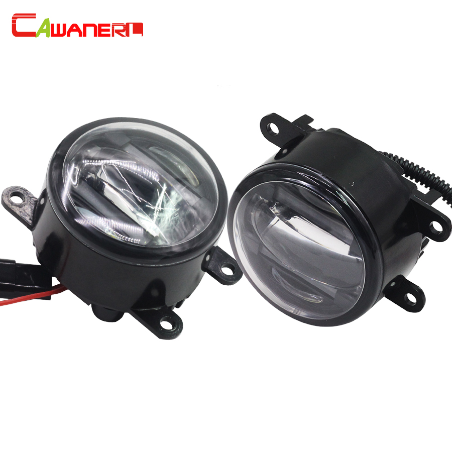 Cawanerl 1 Pair Car Fog Light LED Daytime Running Lamp DRL For Vauxhall Corsa Agila Astra Meriva Movano Vectra Zafira Signum cawanerl 1 pair 100w h3 car led bulb 20 smd 2200lm white 6000k automotive fog light daytime running lamp headlight low beam drl