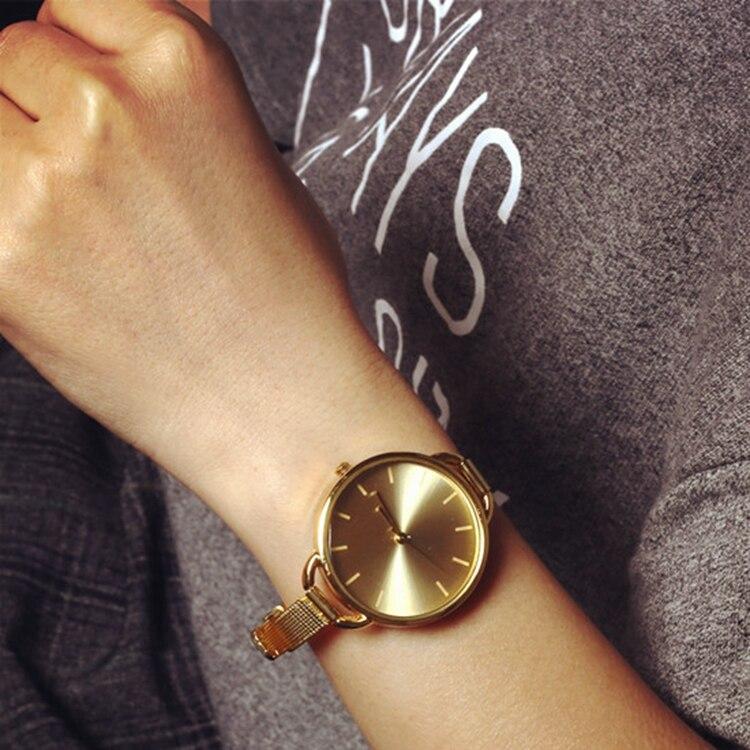 1 PCS New Fashion Classic Women Lady Quartz Stainless Steel Analog Wrist Watch Bracelet