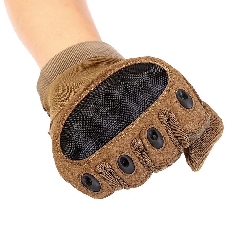 Tactical Military Army Paintball Camping Hiking Gloves Full Finger Anti-Skid Rubber Hard Knuckle Gloves Sportswear Accessories