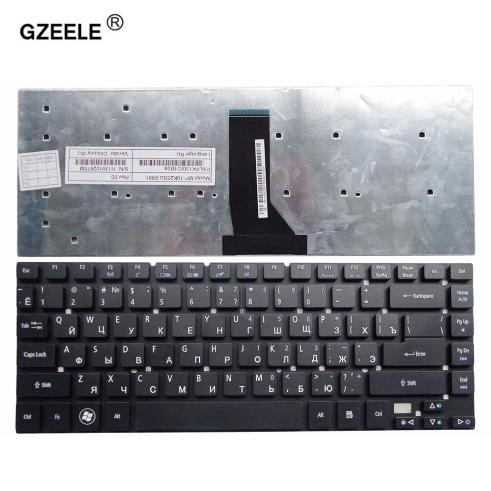GZEELE russian laptop keyboard for <font><b>Acer</b></font> for <font><b>Aspire</b></font> 3830 3830G 3830T 3830TG 4755 <font><b>4830</b></font> 4830G 4830T <font><b>4830TG</b></font> V3-471 NV47H MS2317 RU image