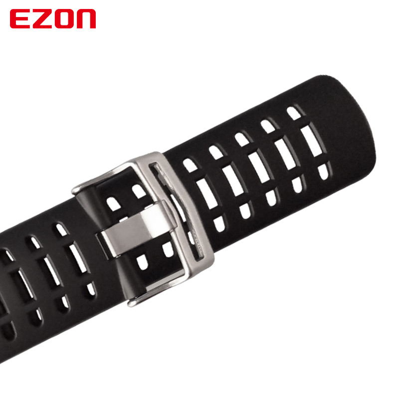 Image 4 - Original 24mm Black Silicone Rubber Watch Strap Sports Watch Band For Wristwatch EZON L008 T023 T029 T031 G1 G2 G3 S2 H001 T007-in Watchbands from Watches