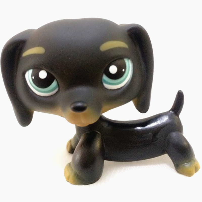 LPS Pet Shop New Rare Brown Striped Red Dachshund LPS Dog Figure Collection Cosplay Mini Action Figure Children Gift lps 325 black dachshund dog chien teckel puppy sausage