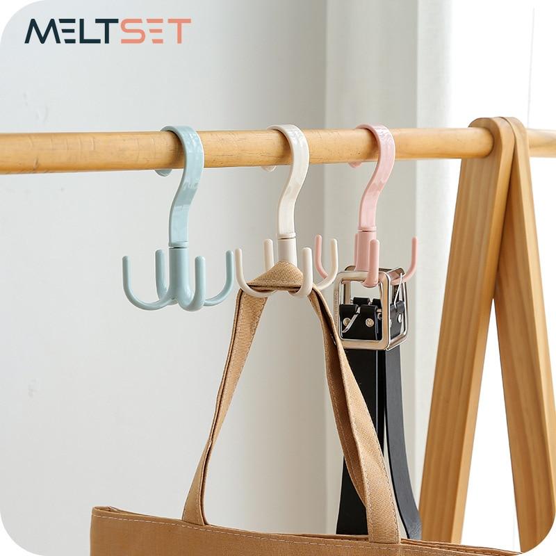 Lagerung Rack Krawatte Gürtel Organizer 360 Grad Rotierenden Kleiderbügel Haken Kleiderschrank Platzsparende Schals Bh Halter Hause Liefert