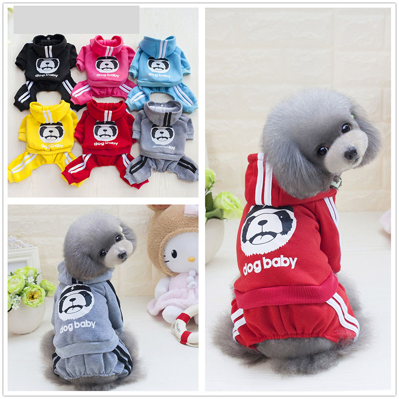 Hot Sale Spring Cartoon Pet Dog Clothing Soft Cotton Cat Teddy Clothing Fashion Outdoor Sport Dogs Body Suit For Small Dogs