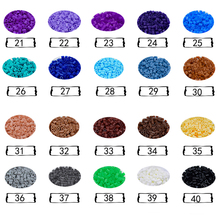 DOLLRYGA 5mm hama Beads 1000 PCS 50 Colors for Kids Perler DIY Puzzles Peas High Auality Handmade Gifts Children Toy