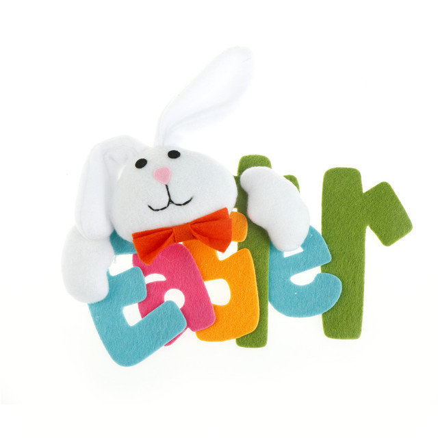 new Bunny Hanging Signs Home Decorating Supplies Ornament Easter ...