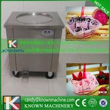 Single pan 220V or 110V single pan fry ice cream machine free shipping,fried ice rolls with ice cream powder