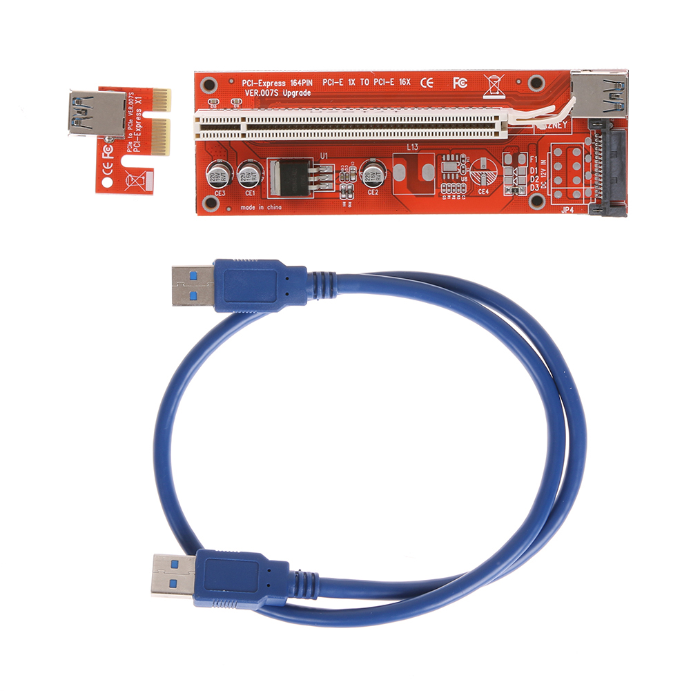 60cm USB 3.0 15Pin PCIe PCI-E PCI Express Riser Card 1x to 16x Enhanced Extender Riser Adapter for BTC, LTC, ETH Mining Machine riser pci e x1 pcie 1x to pci express x1616x mining machine enhanced extender riser card adapter with usb 3 0